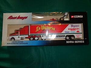 Corgi Race Image NHRA Series La Victoria 1:64 Die Cast Car & Transporter W/Box