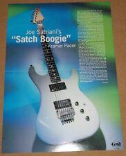 Joe Satriani Satch Boogie Kramer Pacer Guitar centerfold poster + James Hetfield