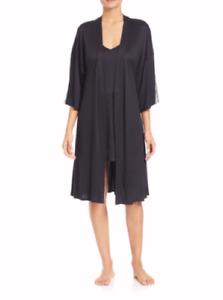 Hanro Silk / Modal Constance Robe Black X-Small