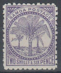SAMOA 1887 2/6d. REDDISH-LILAC PALM TREE MINT (ID:237/D59061)
