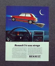 K500- Advertising Pubblicità -1982-  RENAULT 5 TX , IL CRUSCOTTO