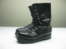 VINTAGE 1986 Black Army Military Combat lace up 10 inch Boots Size 44 USA 9