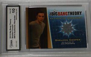 2013 CZE The Big Bang Theory Season 5 Sheldon Cooper Wardrobe Card #M14 GEM MT10
