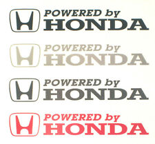 x2 Powered by Honda Stickers/Decals for Honda Civic/CRX/Integra