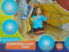 DISCOVERY FORT CONSTRUCTION TOY~BOYS GIRLS~BUILT HOME CASTLES~PLAY TENT~72PC SET