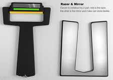 2 Carzor: Credit Card Shaving Razor & Mirror Fits In Wallet - Shave On The Go