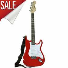 Red Electric Guitar Full Size Johnny Brook ST Style 22-Fret Maple Neck NEW