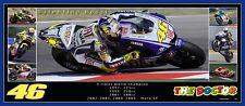 Valentino Rossi 82cmx36mm  panoramic photo collage Ltd edition of 100