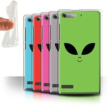 STUFF4 Gel/TPU Case/Cover for Huawei Ascend G6/Extraterrestrial Alien Face