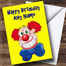 GIALLO CLOWN personalizzato compleanno auguri carta