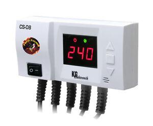 Temperaturdifferenzregler Steuerung CS-08 f. Pumpe v. Vorlauf u. Warmwasserpumpe