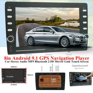 """8"""" 2.5D Touch Screen Android9.1 Device GPS Player Car Stereo Audio MP5 Bluetooth"""