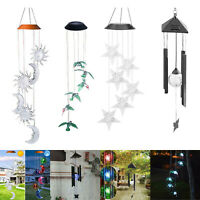 Color-Changing LED Solar Power Wind Chime Lights Yard Garden Decor Hanging Lamp