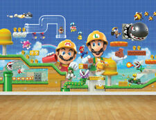 Super Mario Bros Wall Art Wall Mural Self Adhesive Vinyl Wallpaper V20*