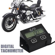 Digital Tach Tachometer Hour Meter Gauge Engine Spark Inductive Motorcycle UK
