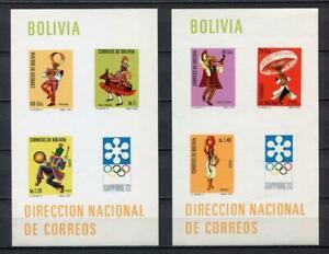 37194) Bolivia 1972 MNH Olympic G.Munich Michel 32/33