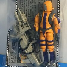 Gi Joe Action Figure Vintage Hasbro Complete File Card Cobra Heat Viper Bazooka