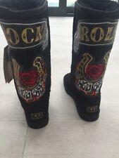 Koolaburra Black ROCK ROLL Sheepskin Boots UK4 EU37 New