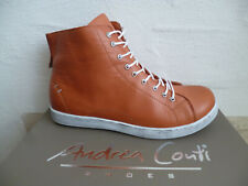 Andrea Conti Ankle Boots Lace Up Rust Leather New
