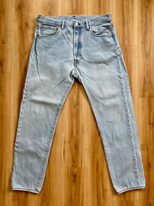 Levis 501 CT Jeans Gr. 34/32 (L) Tapered Denim Washed Levi's Strauss NYC