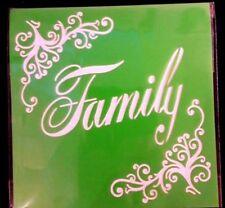 FAMILY Stencil Washable Reusable Plastic 6