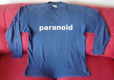ORIGINALE 1999 Garbage paranoico Manica Lunga T-shirt versione 2.0 tour europeo, Regno Unito