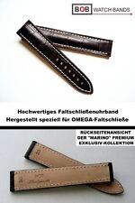 - BOB FALTSCHLIESSENBAND ALLIGATORPRÄGUNG Kompatibel mit Omega -FS BRAUN 20/18mm