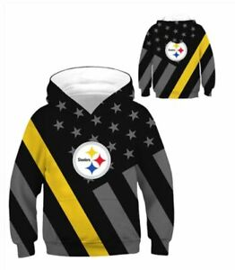 Pittsburgh Steelers Youth Unisex Team Hoodie 4T to 7T