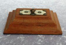 Antico Indiano sadeli Ware inserisci scrivania peso Fermacarte legno micro mosaico