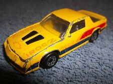 1985 MATCHBOX CAMERO IROC-Z 28 MADE IN MACAU YELLOW 1:63 SCALE DIECAST CAR