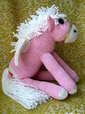Sock Monkey Pony Pink Pegasus Handmade