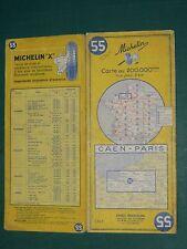 Carte MICHELIN n° 55 Caen Paris 1965
