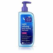 Clean & Clear Night Relaxing Deep Cleaning Face Wash 8 oz