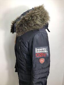 Women's Superdry Sub Arctic Supertech Dark Blue Thick Winter Parka UK Medium