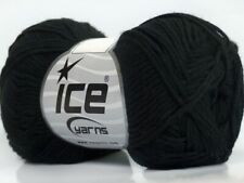 Black Cotton Bamboo Yarn Ice #41437 Baby / Sport Weight 50 Gram 153 Yards