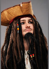Mens Deluxe Jack Sparrow Wig and Hat