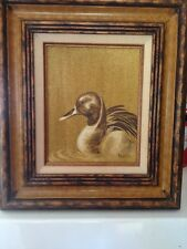 Renowned artist Peggy Harris  - PINTAIL 1978 vintage wildlife painting on canvas