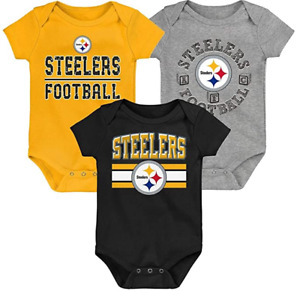 Licensed Pittsburgh Steelers 3 Piece Bodysuit Set New With tags, Pick your Size