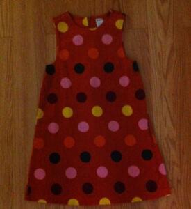 girl's Orange Gymboree velour dress size 7