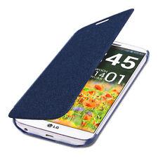kwmobile Flip Cover Case für Lg G2 Blau Schutz Hülle Etui Handy Tasche Slim