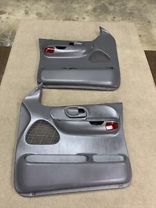 99-03 Ford  F-150 Crew Cab OEM Driver & Passenger Side Door Panels Power Gray