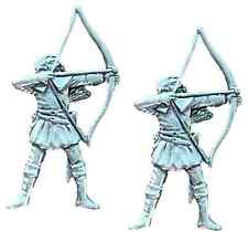 More details for set of 2 archer archery bowman handcrafted from english pewter pin badges -pag