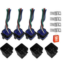4Set 12V 40amp 5 pin 5 wire Relay Plug Socket Heavy Duty 40A Waterproof Auto New