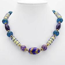 Glassofvenice Murano Glass Necklace Laguna