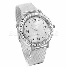 Fashion Women Lady Luxury Stainless Steel Band Bling Analog Quartz Wrist Watch