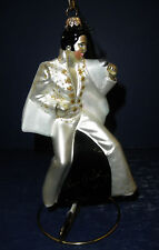 Polonaise Glass Ornament: Elvis- Body White Suit, AP1206, New in Box