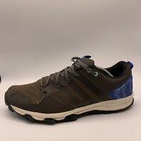 Adidas Kanadia TR7 Mens Olive Green Blue Trail Running Hiking Shoes Sz 11 B33828