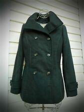 NEW women's TREAD SUPPLY wool grey fitted  peacoat coat jacket M