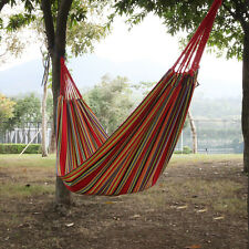 Outdoor Cotton Rope Hanging Hammock Swing Woven knot Camping Canvas Bed Travel