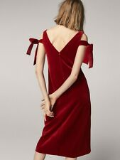 NWT Massimo Dutti Limited Edition Velvet Cocktail Dress Red Size 10 Eur 42